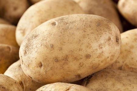 russet: Fresh Organic Whole Potato on a background Stock Photo