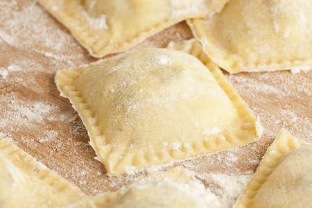 ravioli: Fresh Homemade Ravioli against a back ground
