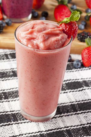 Organic Strawberry Smoothie made with fresh Ingredients photo