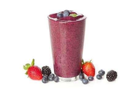 licuados de frutas: Smoothy ar�ndano ecol�gico elaborado con ingredientes frescos