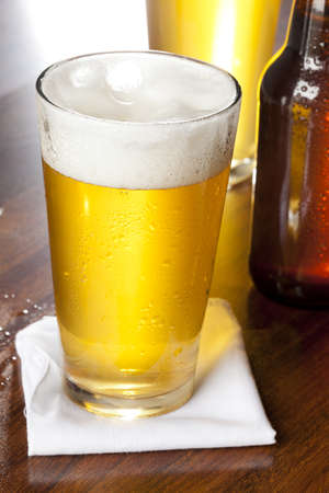 Refreshing Ice Cold Beer against a background Stock Photo - 16543681