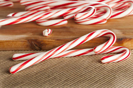 Red and White Candy Cane made for Christmas Stok Fotoğraf
