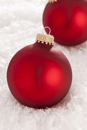 Shiny Red Christmas Ornament ready for the Holidays photo