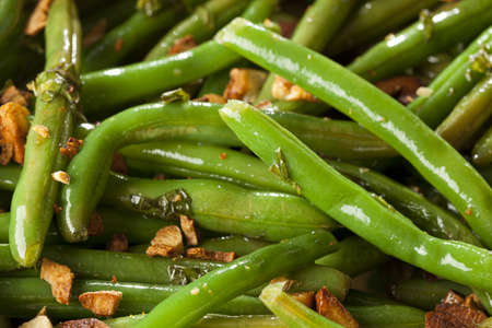 Fresh Organic Cooked Green Beans in a bowl Stock Photo - 16543608