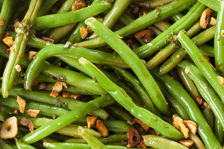 Fresh Organic Cooked Green Beans in a bowl Stock Photo - 16543595