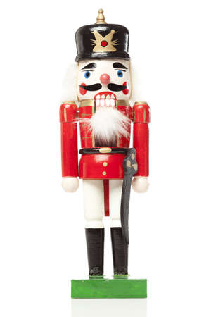 wooden doll: Festive Christmas NutCracker ready for the Holidays