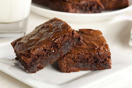 chocolate brownie: Fresh Homemade Chocolate Brownie against a background