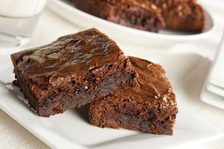 brownies: Fresh Homemade Chocolate Brownie against a background