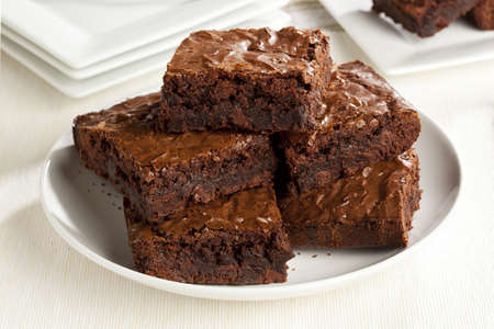 brownie: Fresh Homemade Chocolate Brownie against a background