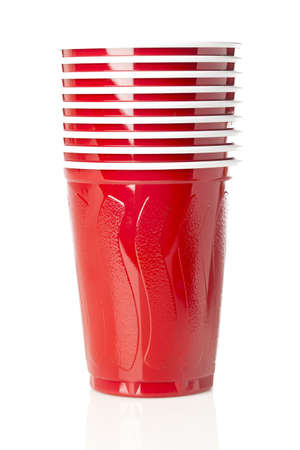 Beer in a Disposable Red Cup at a party photo
