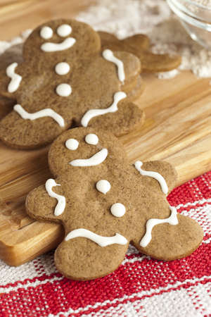 Fresh Homemade Gingerbread Men ready for the Holidays photo