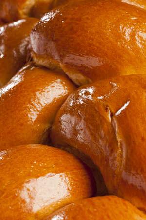 Fresh Homemade Challah Bread for a Jewish Celebration Stock Photo - 17171272