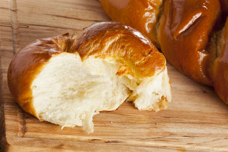 Fresh Homemade Challah Bread for a Jewish Celebration Stock Photo - 17173785