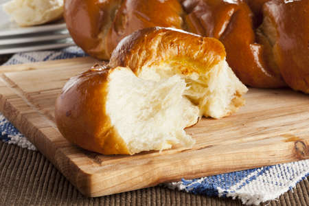Fresh Homemade Challah Bread for a Jewish Celebration Stock Photo - 17173778