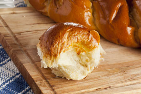 Fresh Homemade Challah Bread for a Jewish Celebration Stock Photo - 17172220