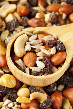 All Natural Homemade Trail Mix ready to eat