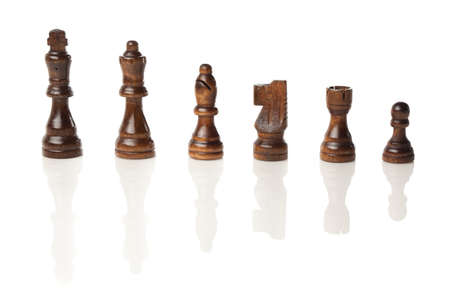Classic Wooden Chessboard with Cheese Pieces against a background Stock Photo - 17168706