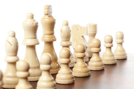 Classic Wooden Chessboard with Cheese Pieces against a background Stock Photo - 17168752