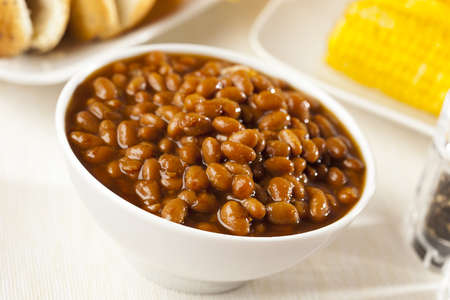 Fresh Homemade BBQ Baked Beans on a background Stock Photo - 17170343
