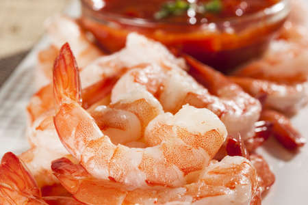 Fresh Organic Shrimp Cocktail with red sauce Stock Photo - 17303317