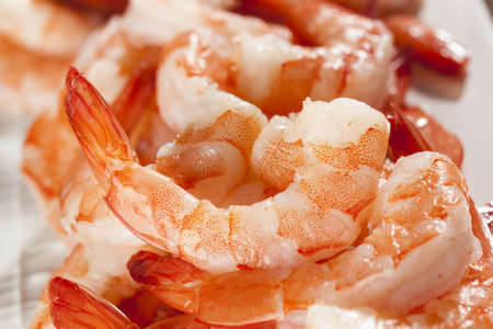 Fresh Organic Shrimp Cocktail with red sauce Stock Photo - 17303297