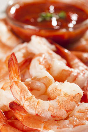 Fresh Organic Shrimp Cocktail with red sauce Stock Photo - 17303302