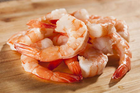 Fresh Organic Shrimp Cocktail with red sauce Stock Photo - 17303329