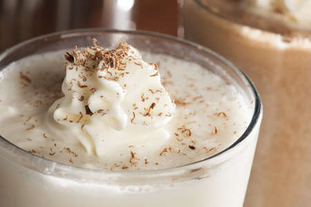Rich and Creamy Milkshake with whipped cream photo