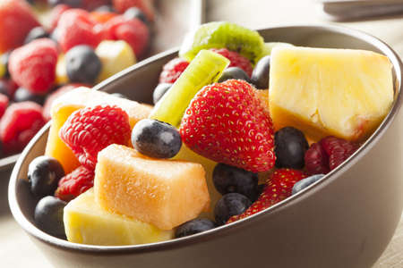 fruity salad: Fresh Organic Fruit Salad on a plate