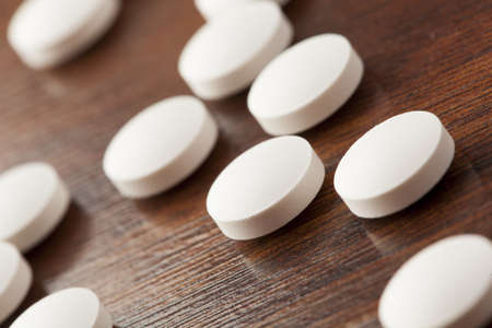 aspirin: Variety of Drugs, Pills, Supplements, and Medication on a background