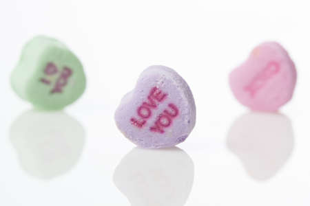candy hearts: Colorful Conversation Hearts Candy for Valentines Day