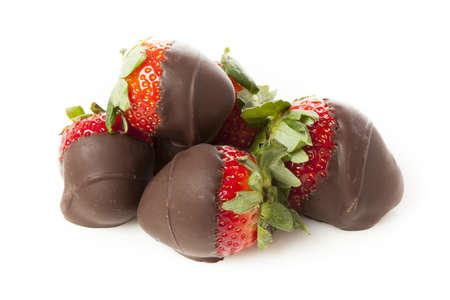 chocolate covered strawberries: Gourmet chocolate con fresas para el D�a de San Valent�n