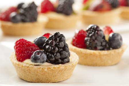mango fruit: Fresh Homemade Fruit Tart with berries and kiwi Stock Photo
