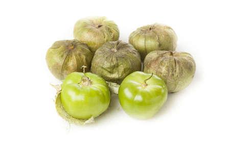 husk: Fresh Organic Green Tomatillo con una c�scara