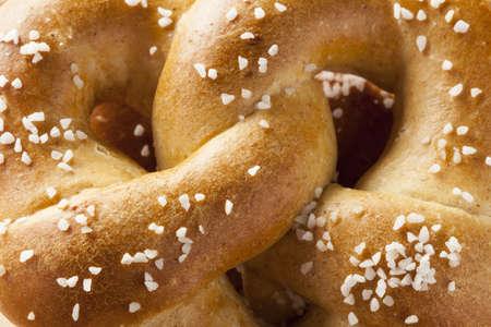 pretzel: Homemade Warm Soft Pretzel with salt on top