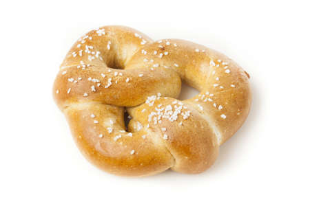 yeast: Homemade Warm Soft Pretzel with salt on top