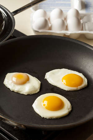sunnyside: Organic Sunnyside up Egg ready for breakfast Stock Photo