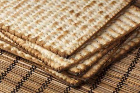 Homemade Kosher Matzo Crackers made with flour and water Stock Photo - 18582899