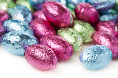 Colorful Chocolate Eggs for Easter