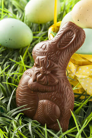 Festive Chocolate Easter Bunny for the holidays photo