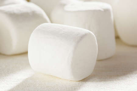Delicious White Fluffy Round Marshmallows ready to eat Stock Photo - 18581971