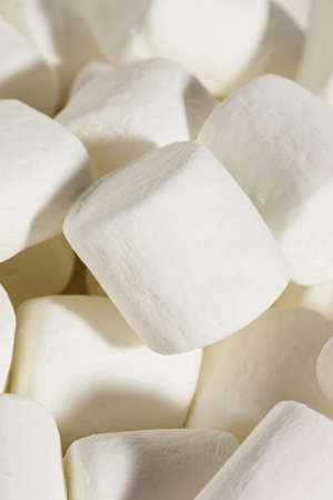 Delicious White Fluffy Round Marshmallows ready to eat Stock Photo - 18581970