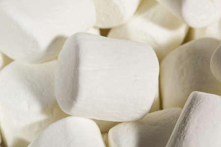Delicious White Fluffy Round Marshmallows ready to eat Stock Photo - 18581959
