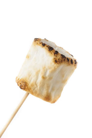 Delicious White Fluffy Roasted Marshmallows in front of a fire Stock Photo - 18581559