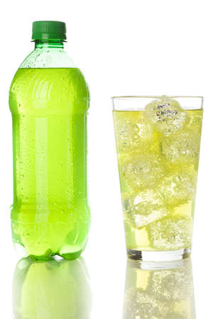 Green Energy Drink Soda against a background photo
