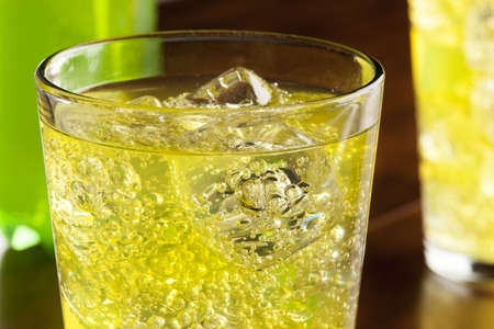 fizzy: Green Energy Drink Soda against a background