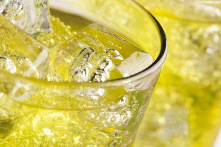 soda splash: Green Energy Drink Soda against a background