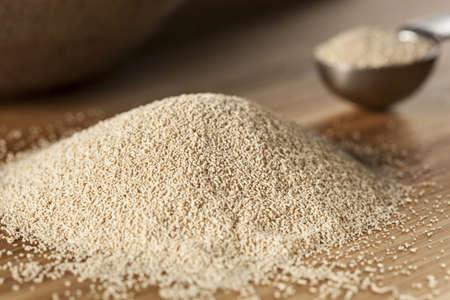 Organic Raw levure à pain dans un contexte Banque d'images