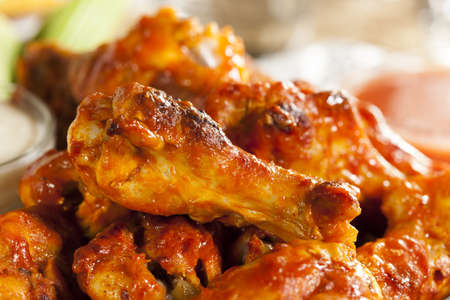 buffalo: Hot and Spicey Buffalo Chicken Wings with celery