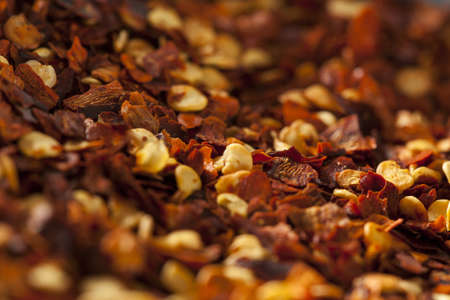 Organic Spicy Red Pepper Flakes used for cooking photo